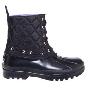 Sperry Top-Sider Gosling Black Quilted Boots 6.5 M